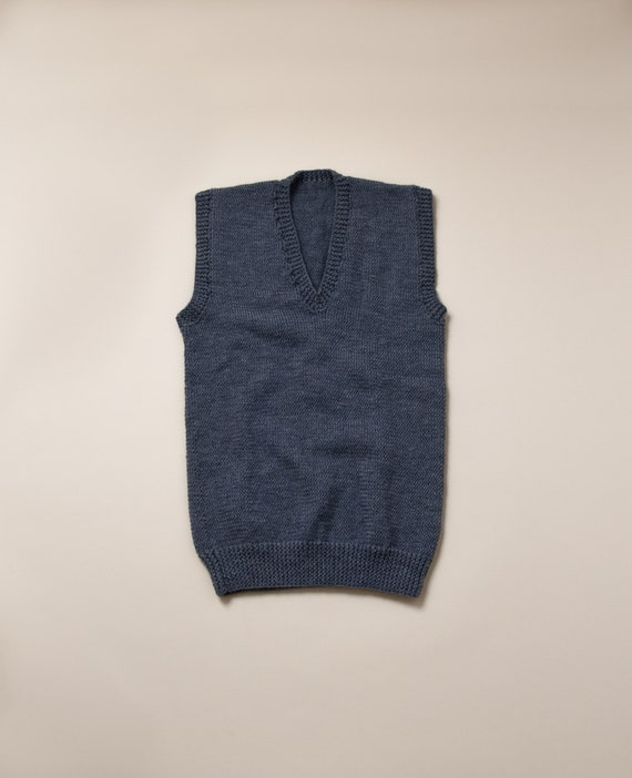 1950's Small Hand Knit Sweater Vest