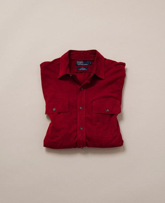 1980's M/L Polo Ralph Lauren Suede Shirt - image 1