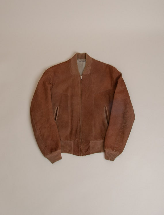 1960's Medium Suede DuPont Quilon Bomber Jacket