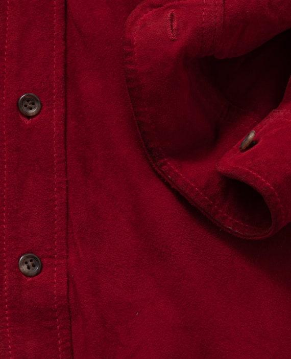 1980's M/L Polo Ralph Lauren Suede Shirt - image 5