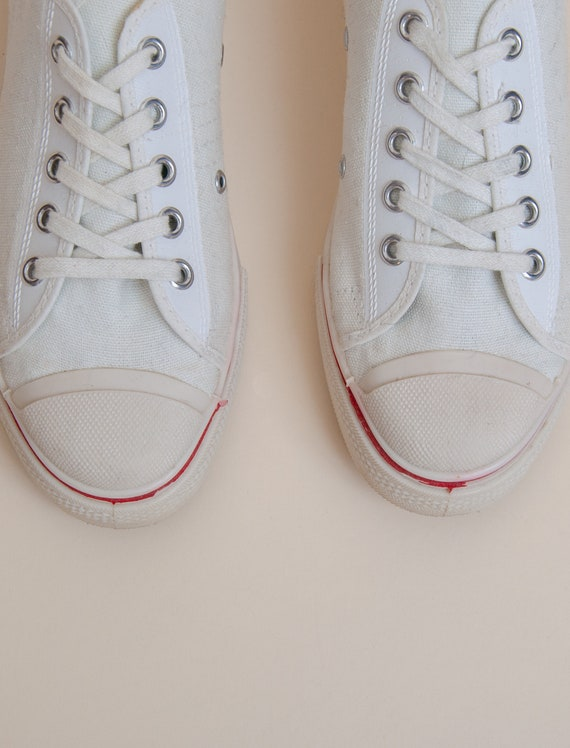 1960's Size 3.5 Deadstock Low Top Canvas Tennis S… - image 4