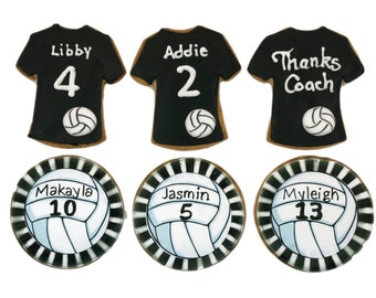Sport Jersey and Ball Cookies- Set of 6 Crunchy Shortbread Cookies Individually Wrapped by BakersDozenToGo