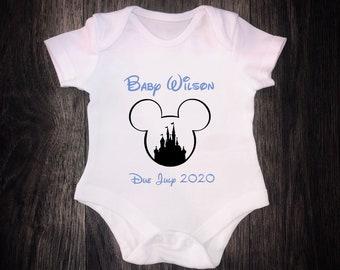 Personalised Disney Inspired Baby Grow Vest for Boys /& Girls Baby Shower Gift