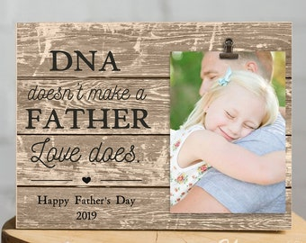 Stepdad Gift Fathers Day Gifts From Daughter Birthday For Dad StepDad DNA Doesnt Make A Father Frame