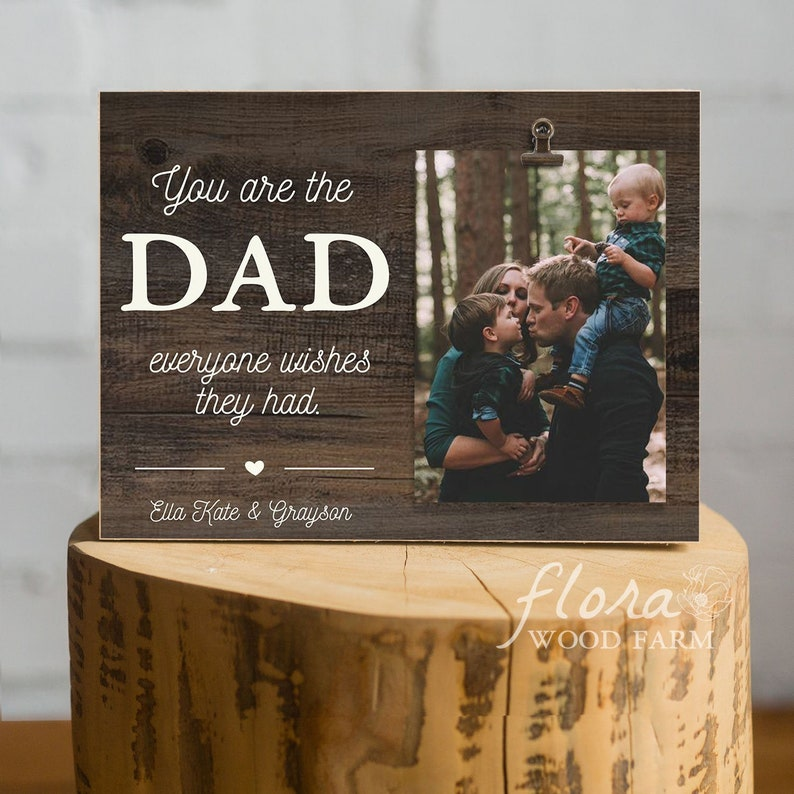 Fathers Day Gift Frame Dad Birthday New First From Son Daughter Wife Mom