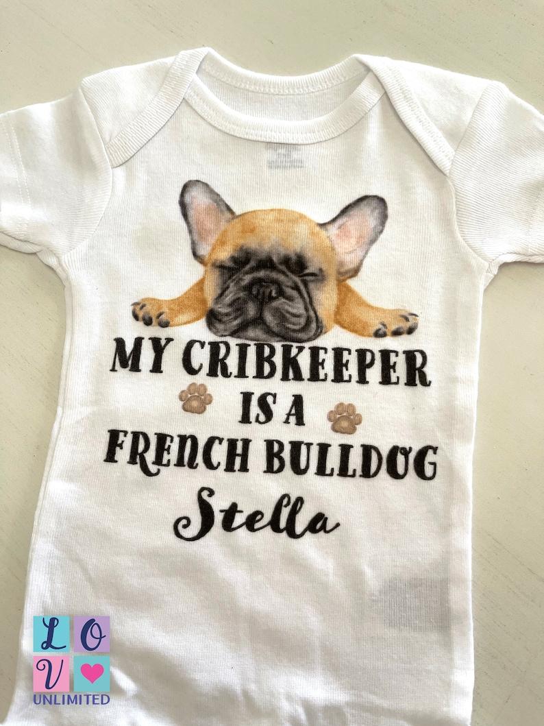 Personalized French Bulldog baby onesie\u00ae