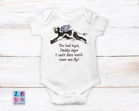 Funny Onesie Udderly Adorable Unisex Bodysuit Country Girl Cowgirl Baby