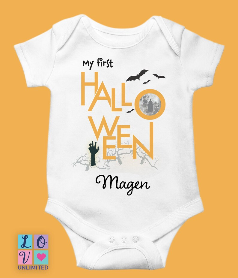 Wonderful My First Halloween Onesie®, Personalized Halloween Baby Onesie®, Halloween  Baby Clothes, Halloween Baby Outfit, Baby Onesies® For Halloween