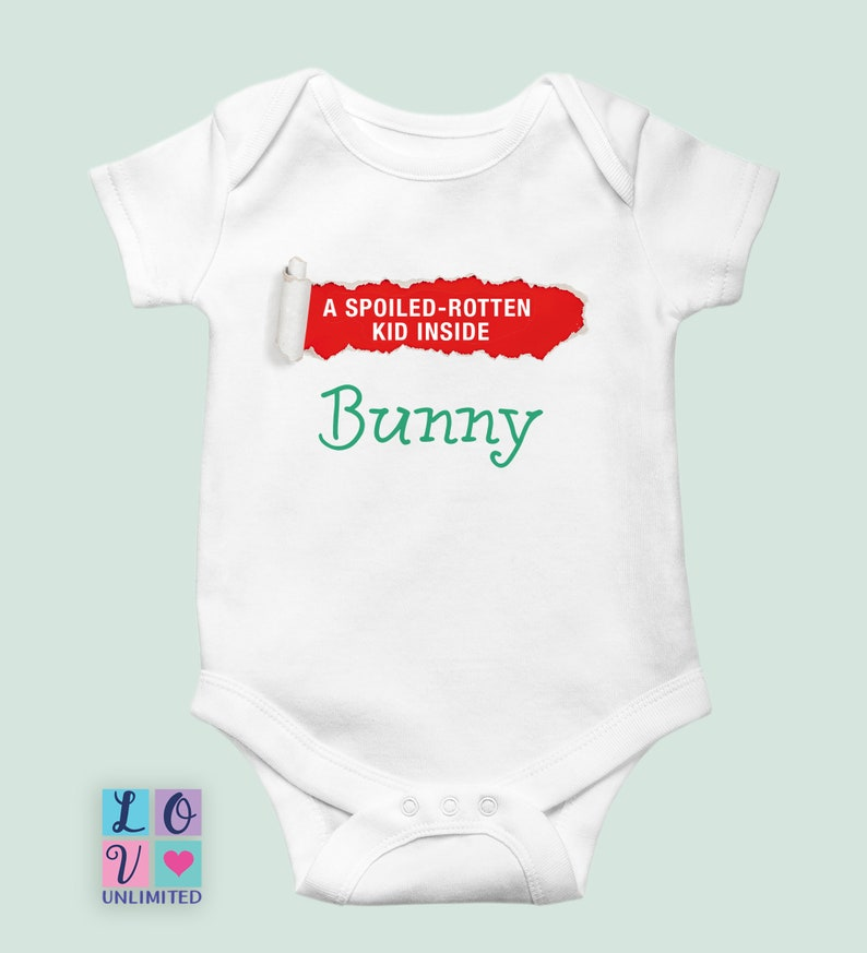 Spoiled-rotten Funny Baby Onesie\u00ae baby shower gift