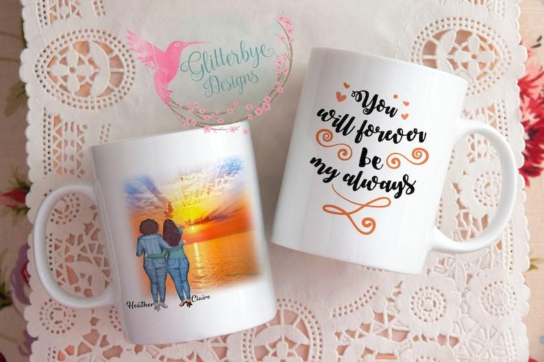 Personalized Couples Sunset Mug regular mug