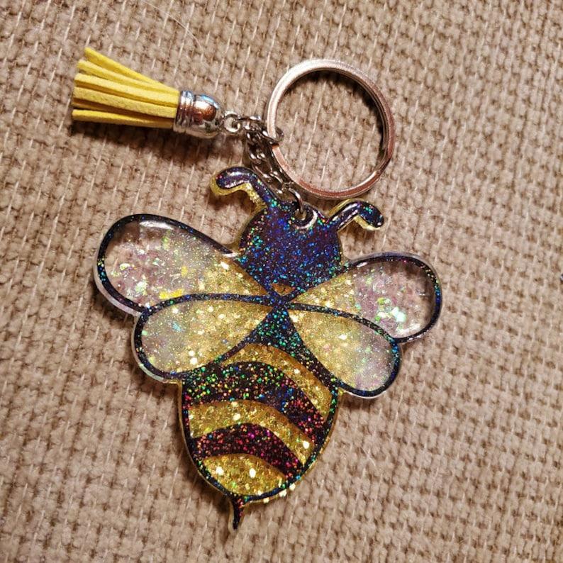 Beeutiful Bee Keychain image 0