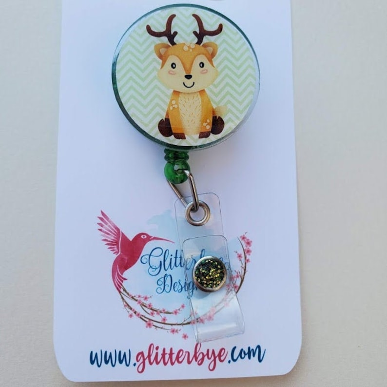 Spring Deer badge reel image 0