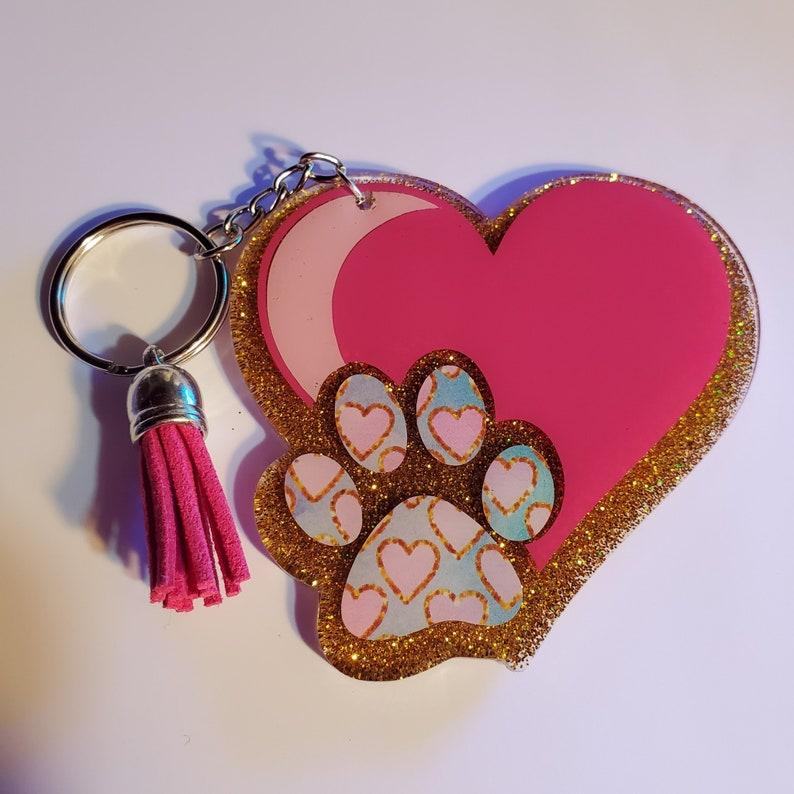 Pet Love Keychain image 0