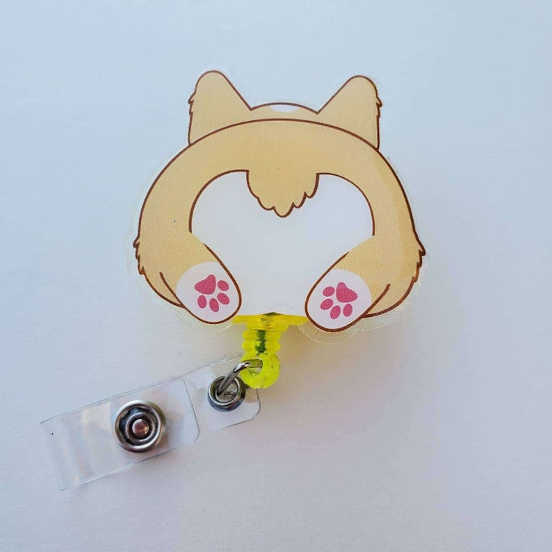 Corgi Butt Badge Reel image 0