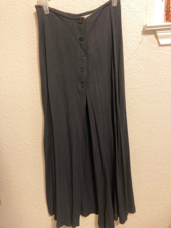 Vintage Express Button Front Long Skirt