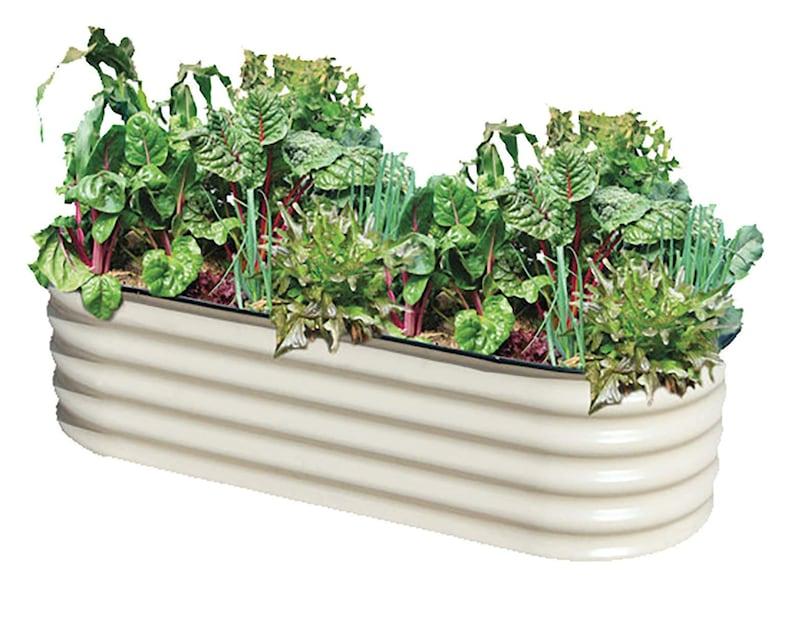 Herb Garden Planters Diy Gift Raised Bed Kit 3x5 Ft Metal Etsy