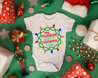 My Favorite Color is Christmas Lights Unisex Baby Onesie® - Perfect Outfit for Christmas