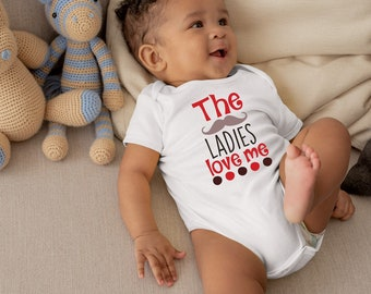 The Ladies Love Me Cute Adorable Baby Boy Onesie® - Makes A Great Baby Shower Gift for New Moms of Baby Boys