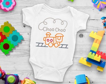 ChooChoo Train Cute Adorable Unisex Baby Onesie® - Great Baby Shower Gifts