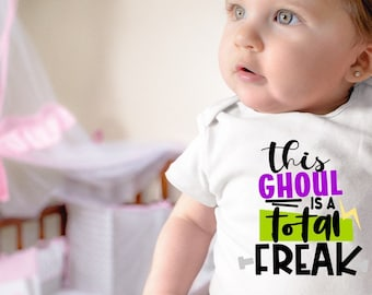 This Ghoul Is A Total Freak Halloween Baby Onesie® - Great Halloween Outfit For New Baby
