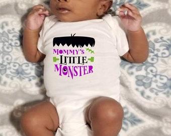 Mommy's Little Monster Unisex Baby Onesie® - Perfect Halloween Onesie® For New Baby
