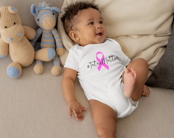 Tata's Matter Pink Breast Cancer Baby Onesie® - Great Onesie® to Support For Breast Cancer Awareness Especially for Breastfeeding Baby
