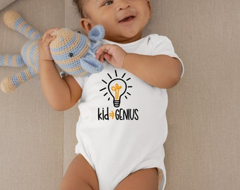 Kid Genius Cute Adorable Fun Sayings Unisex Baby Onesie® - Great Baby Shower Gifts