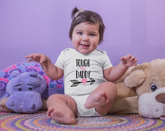 Tough Like Daddy Fun Cute Baby Girl Onesie® - The Perfect Baby Shower Gift