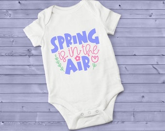 Spring Is In The Air Adorable Cute Baby Girl Onesie® - Perfect Baby Shower Gift