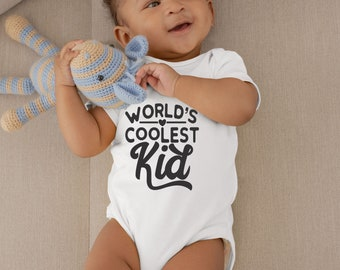 World Coolest Kid Cute Adorable Unisex Baby Onesie® - Great Baby Shower Gifts