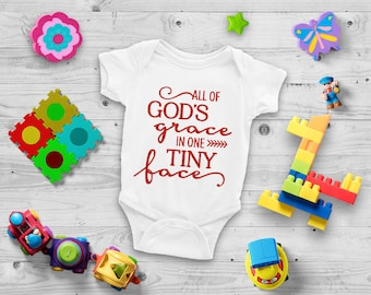 All God's Grace Cute Adorable Unisex Baby Onesie® - Great Baby Shower Gift