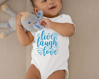 Live Laugh Love Lovely Adorable Unisex Baby Onesie® - The Perfect Baby Shower Gift