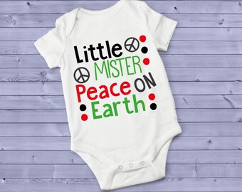 Little Mister Peace On Earth Cute Baby Boy Onesie® - Great Baby Shower Gift