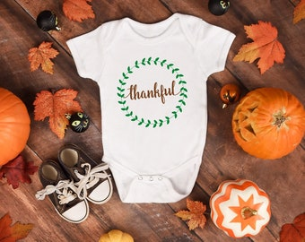 Thankful Cute Adorable Baby Onesie® - Great Thanksgiving Outfit Gift For Baby