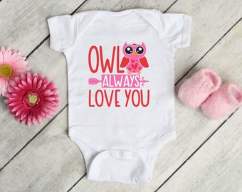 Owl Always Love You Lovely Adorable Baby Girl Onesie® - The Perfect Baby Shower Gift