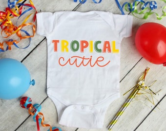 Tropical Cutie Cute Adorable Fun Sayings Unisex Baby Onesie® - Great Baby Shower Gifts