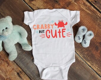 Crabby But Cute Cute Funny Unisex Baby Onesie® - Perfect Gift For Babies