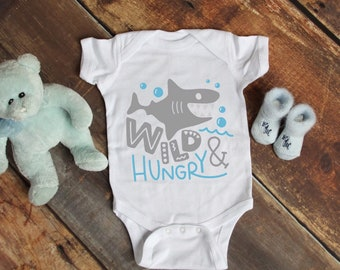 Wild and Hungry Cute Adorable Fun Sayings Unisex Baby Onesie® - Great Baby Shower Gifts