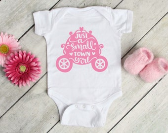 Just A Small Town Girl Lovely Adorable Baby Girl Onesie® - The Perfect Baby Shower Gift