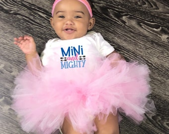 Mini and Mighty Baby Girl Onesie® & Tutu Set - Great Baby Shower Gift for New Baby Girl