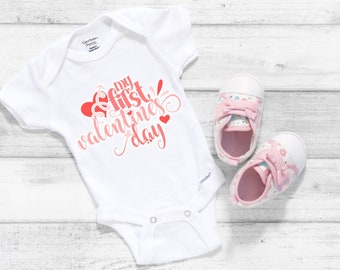 My First Valentine's Cute Holiday Unisex Baby Onesie® - Great For My First Holiday Gifts