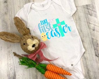 My First Easter Cute Holiday Unisex Baby Onesie® - Great For My First Holiday Gifts