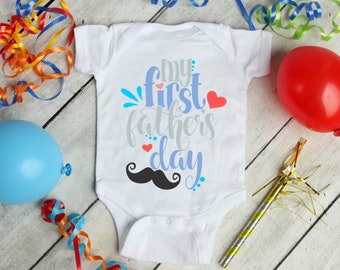 My First Father's Day Cute Holiday Unisex Baby Onesie® - Great For My First Holiday Gifts