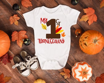 My First Thanksgiving Unisex Baby Onesie® - Great Gift For New Baby's First Thanksgiving