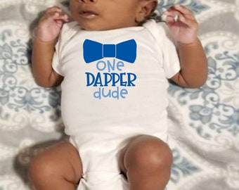 One Dapper Dude Cute Adorable Baby Boy Onesie® - Great Gifts for Baby