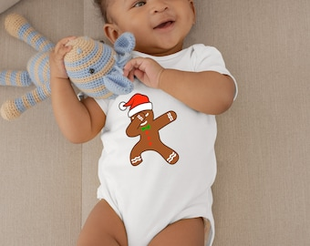 Dabbing Gingerbread Unisex Onesie® - Great Onesie to Celebrate Christmas for New Moms