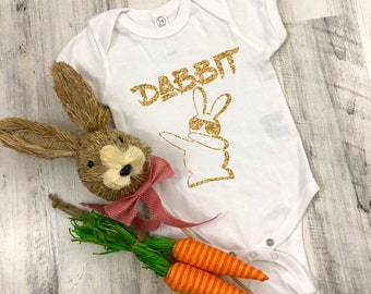 Dabbit  Cute Adorable Easter Unisex Baby Onesie® - Great Baby Holiday Gifts
