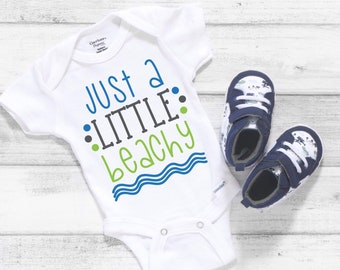 Just A Little Beachy Cute Adorable Unisex Baby Onesie® - Great Baby Shower Gifts