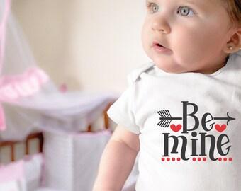 Be Mine Unisex Valentine's Onesie® - Awesome Valentine's Gift for Baby's First Valentine's Day