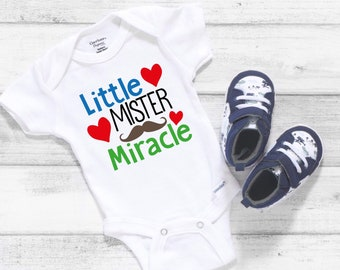 Little Mister Miracle Cute Baby Boy Onesie® - Great Baby Shower Gift